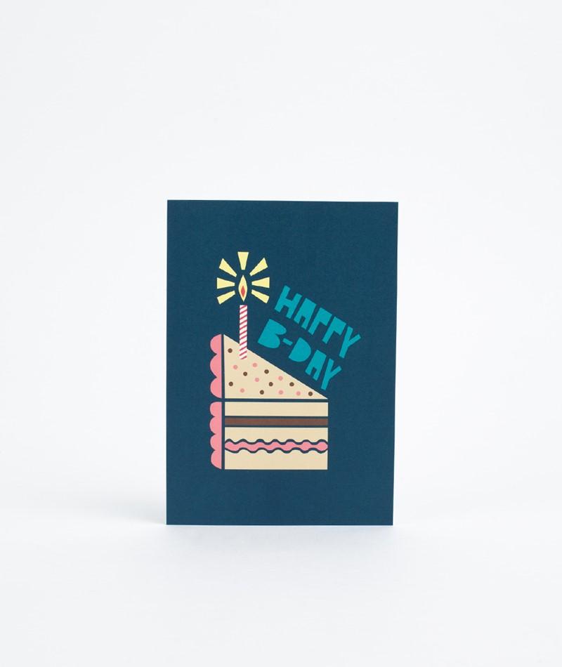 KAUF DICH GLÜCKLICH Postkarte Happy