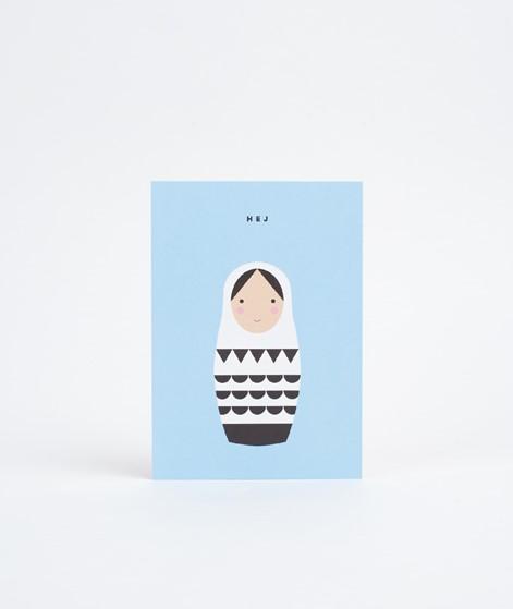 KAUF DICH GLÜCKLICH Postkarte Hej