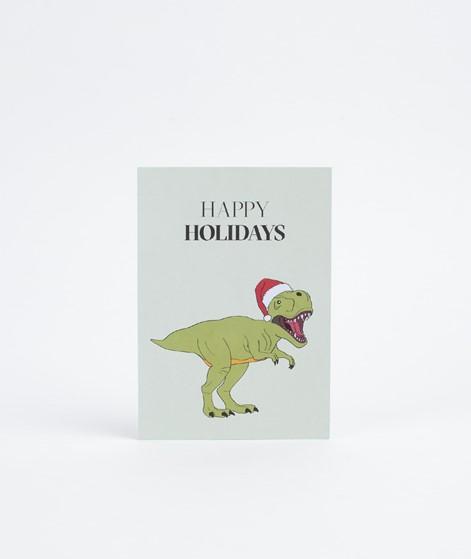 KAUF DICH GLÜCKLICH Postkarte Dino