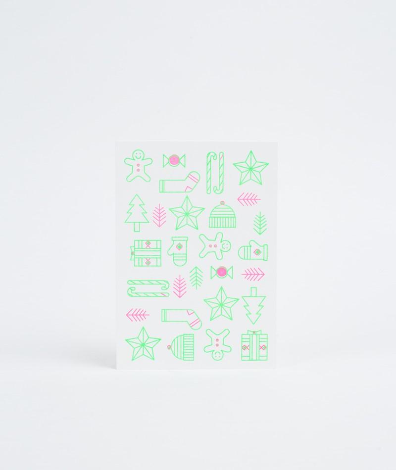 KAUF DICH GLÜCKLICH Postkarte Christmas
