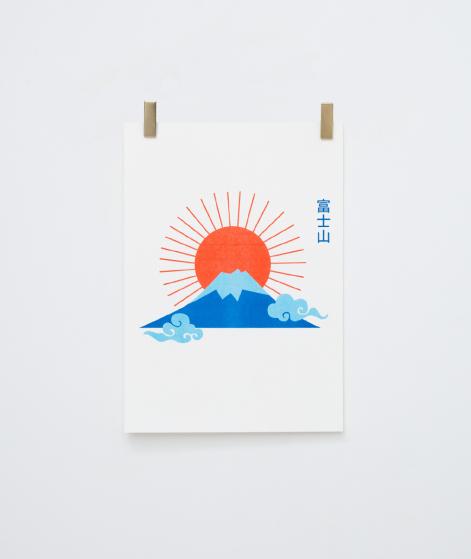 KAUF DICH GLÜCKLICH Poster Mount Fuji