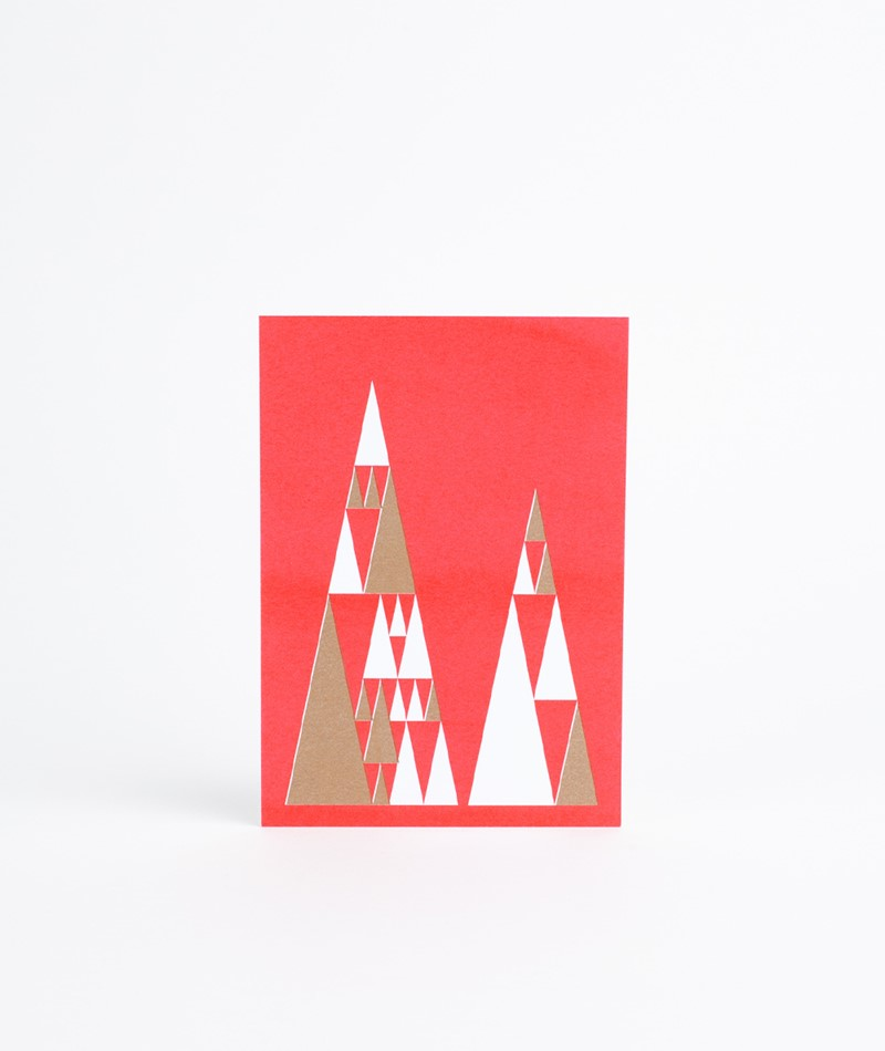 HERR UND FRAU RIO Tannenbaum Postkarte