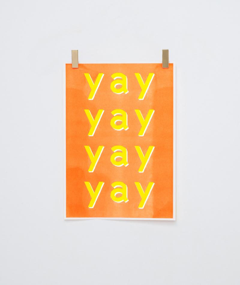 KAUF DICH GLÜCKLICH Poster Yay Yay