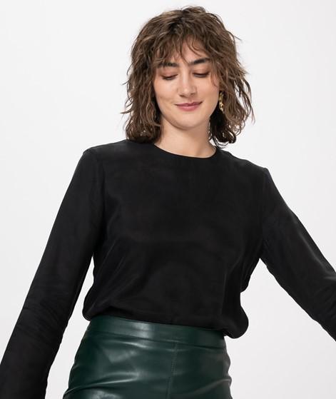 POP COPENHAGEN Flared-Split Bluse black