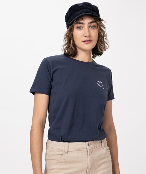 POP COPENHAGEN Heart T-Shirt blue