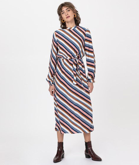 VILA VIAnsel L/S Midi Kleid stripes