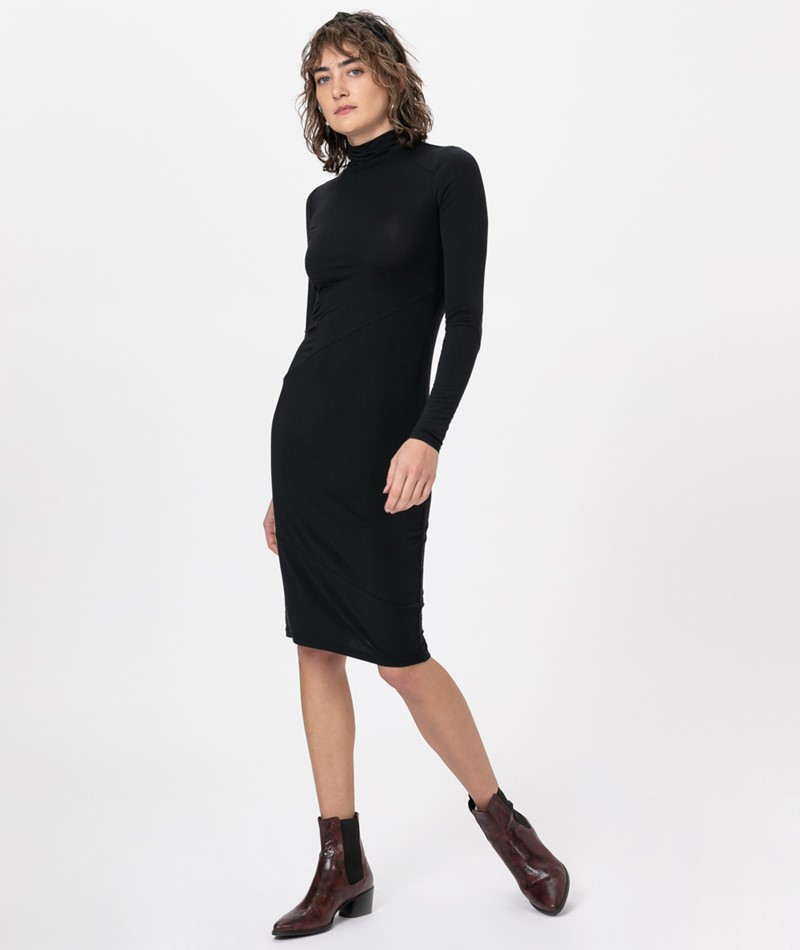 POP COPENHAGEN Modal Jersey Kleid black