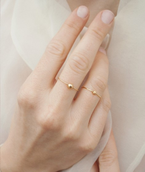 JUKSEREI Stardust Ring gold