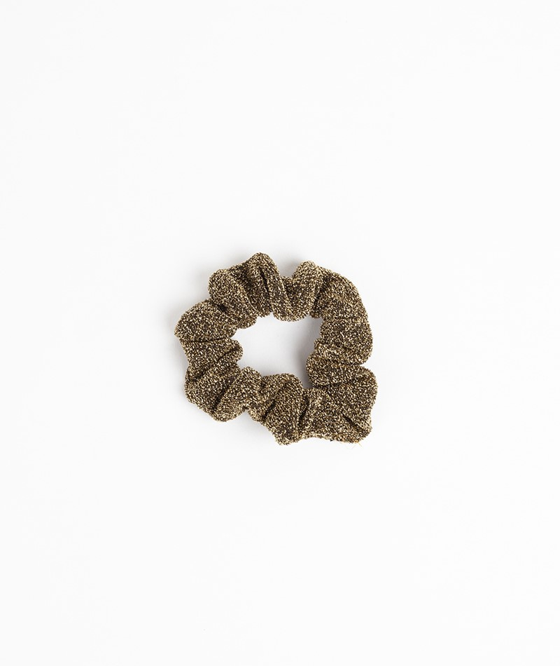 EBBA Small Velour Scrunchie gold