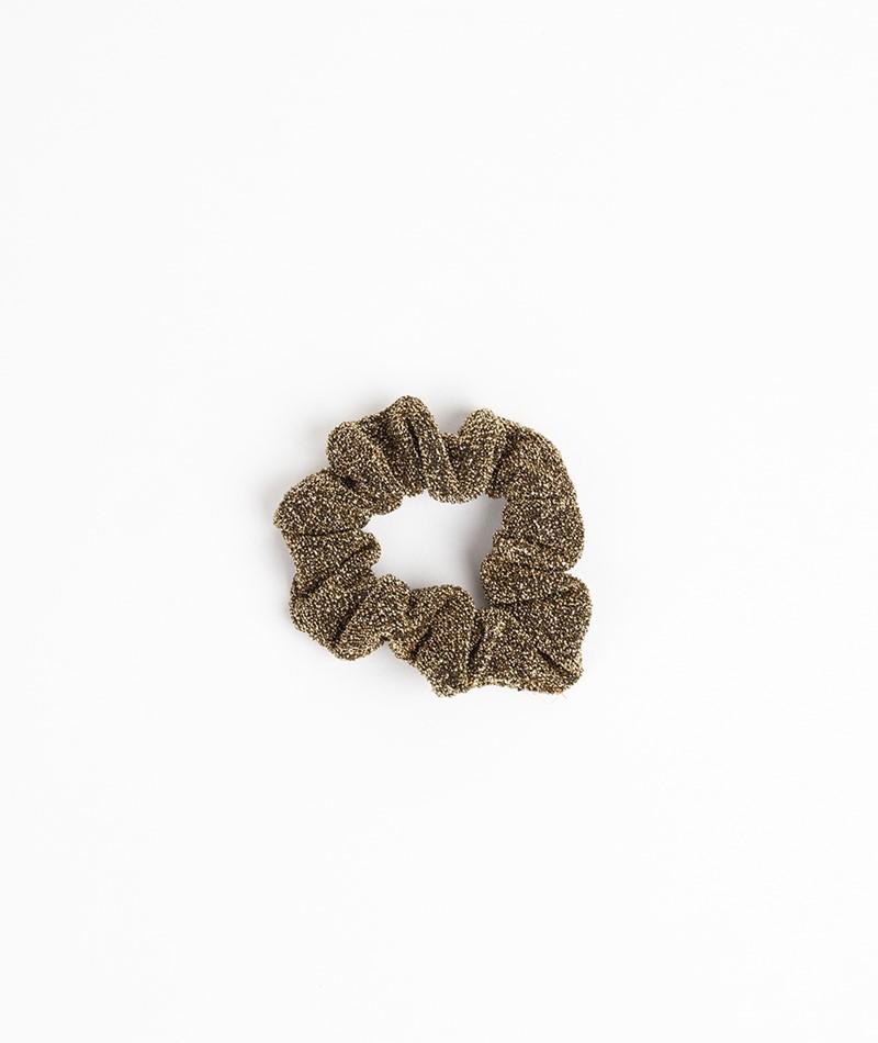 EBBA Small Lurex Scrunchie gold
