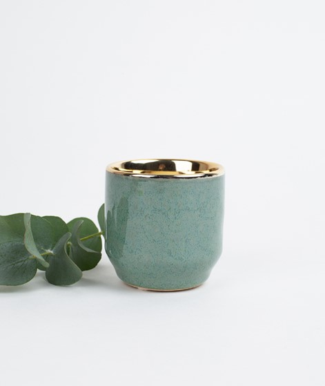 BLOOMINGVILLE Votive Stoneware green