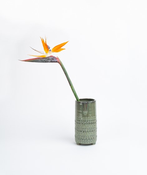 MADAM STOLTZ Vase Face Imprint green