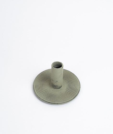 FERM LIVING Candle Holder dusty green