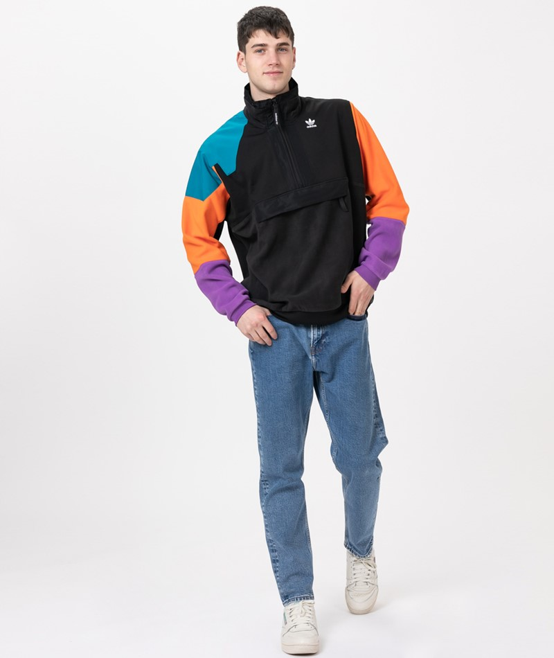 ADIDAS Half Zip Sweater black