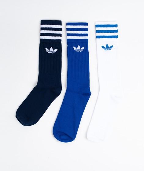 ADIDAS Solid Crew Socken blue/white