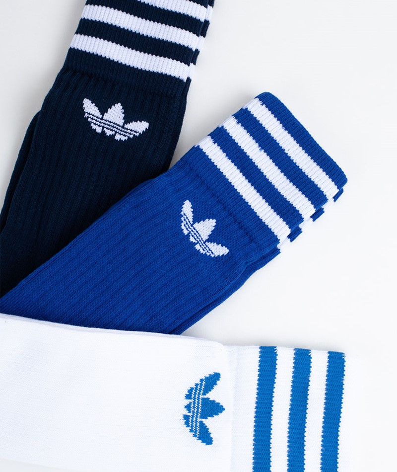 ADIDAS Solid Crew Socken blue/white