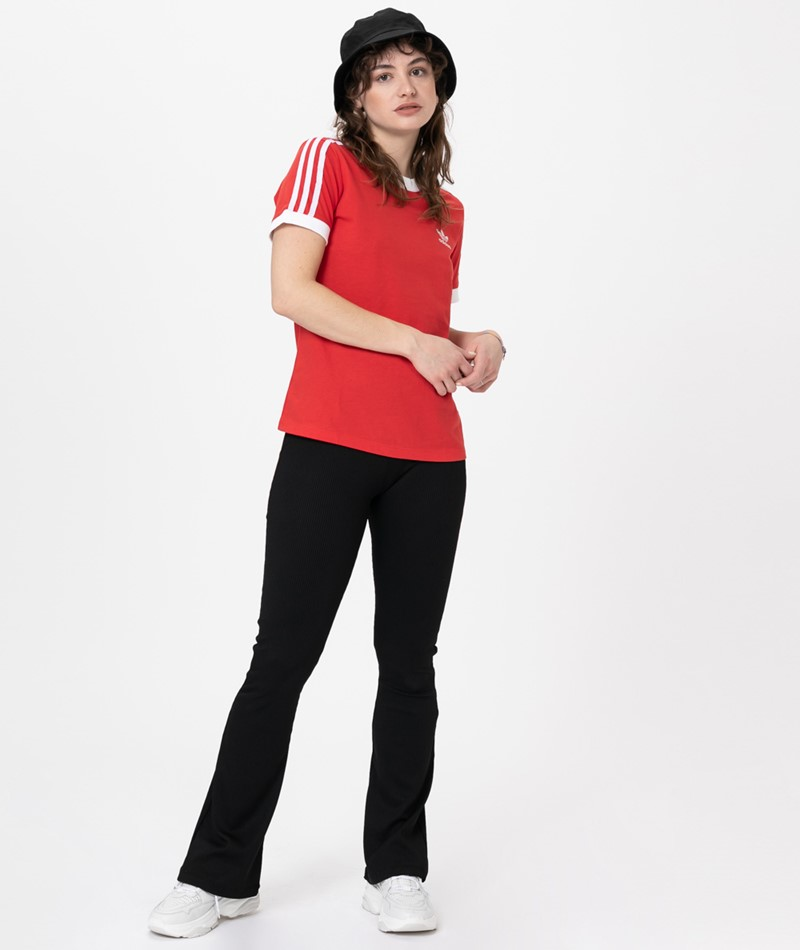 ADIDAS 3 STR T-Shirt lush red/ white
