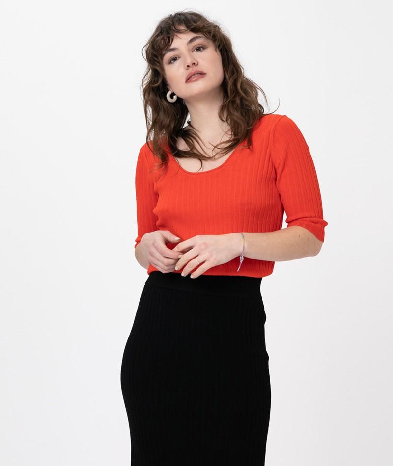 SELECTED FEMME SLFMarga 2/4 Knit T-Shirt