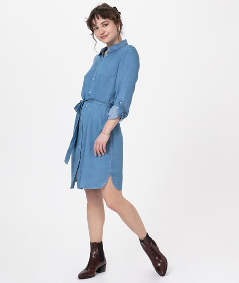 VILA Vibista Belt Denim Kleid blue denim