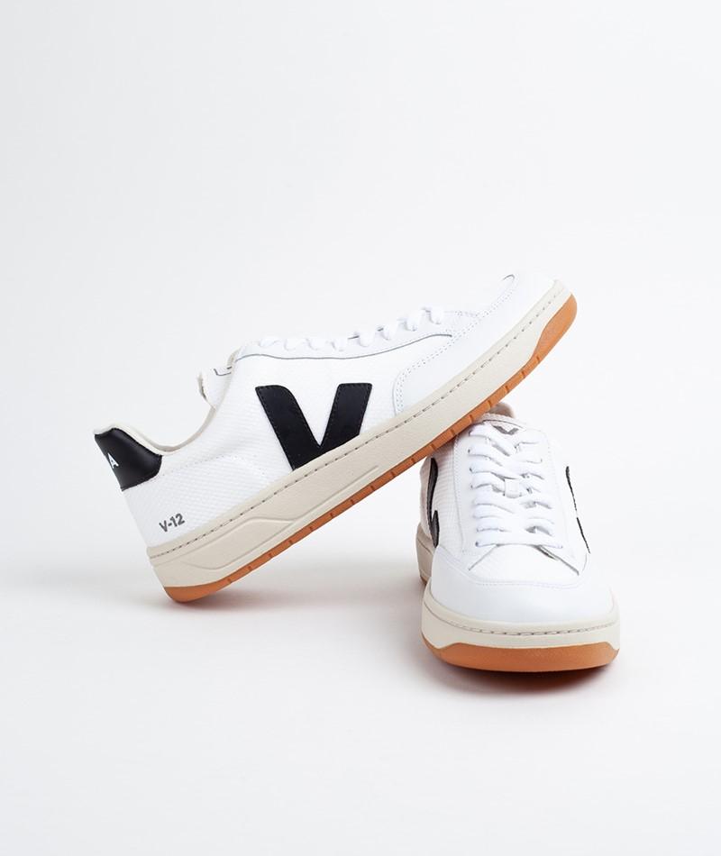 VEJA V-12 B-Mesh Sneaker white black