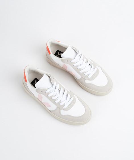 VEJA V-10 Sneaker white petale orange