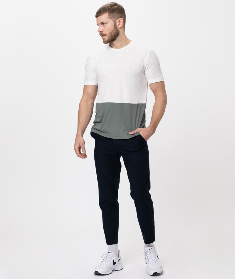 COUDRE Color Block T-Shirt offwhite