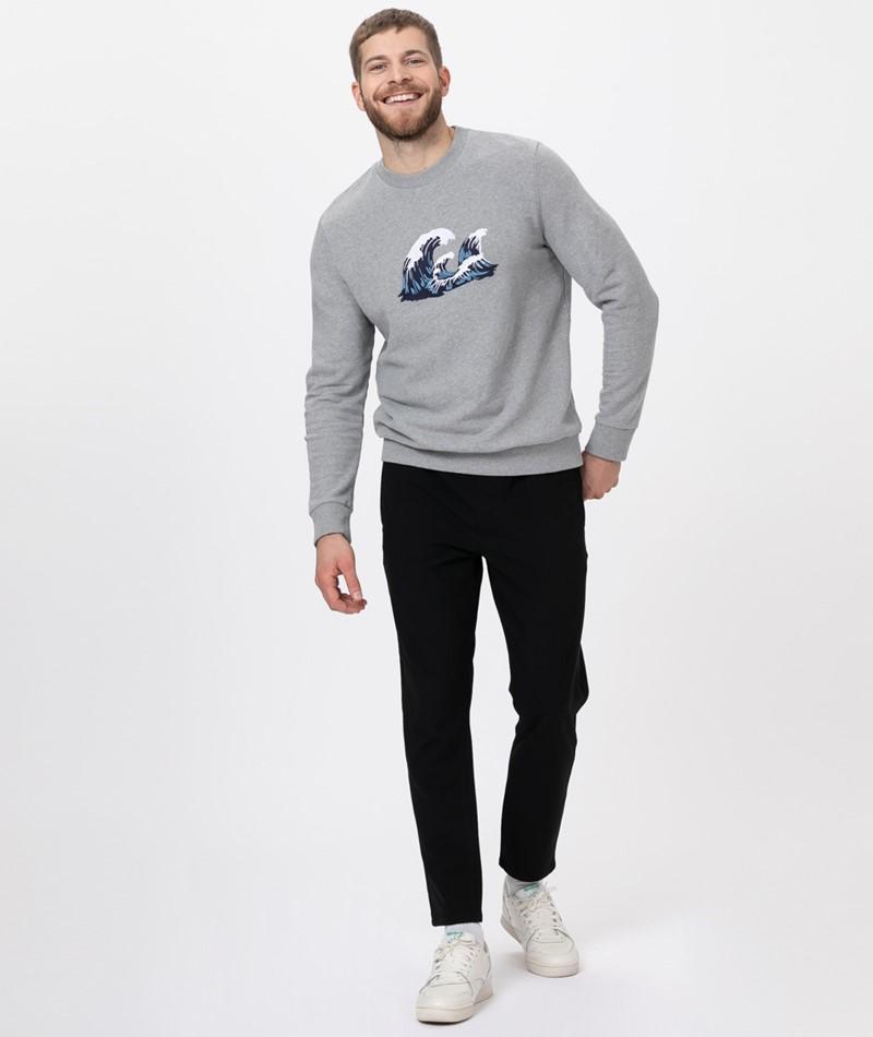KAUF DICH GLÜCKLICH Sweater grey wave