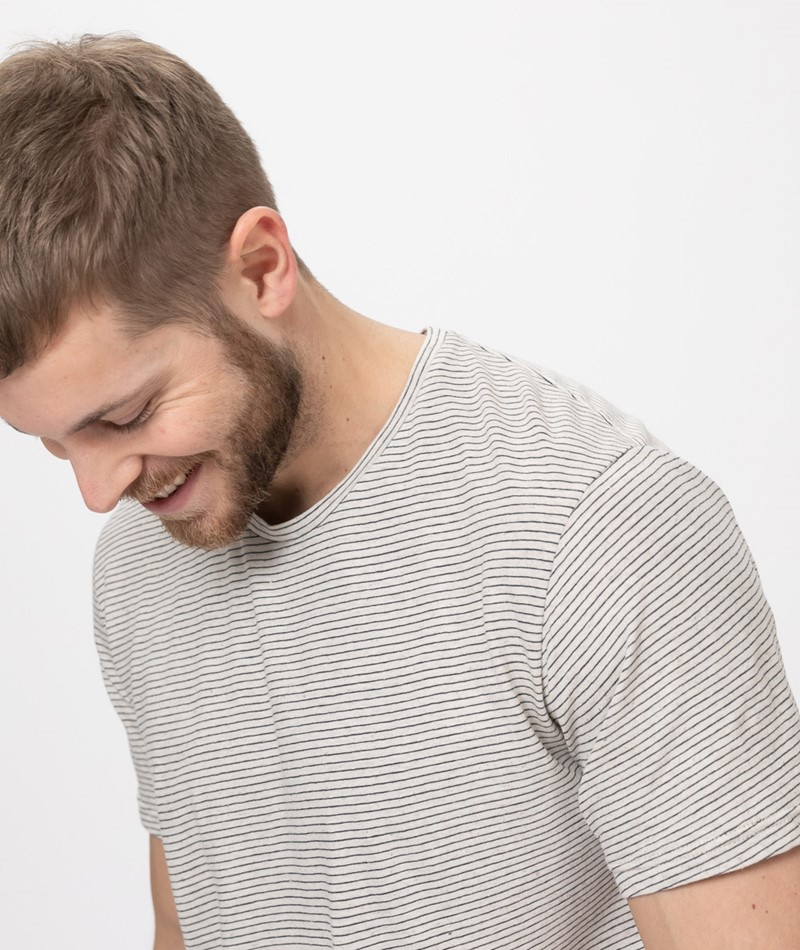 COUDRE Striped T-Shirt striped sand