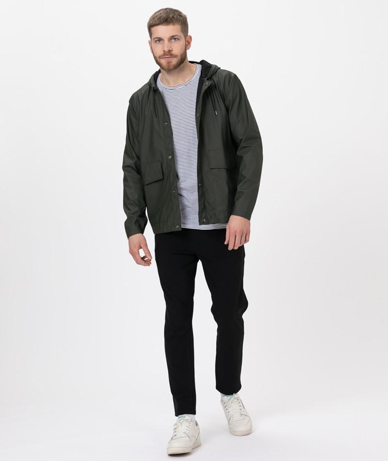 RAINS Short Hodded Coat green