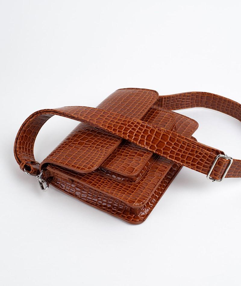 HVISK Cayman Pocket Handtasche chocolate