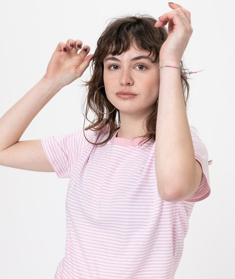 MADS NORGAARD Trimmy T-Shirt white/rose