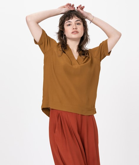 SELECTED FEMME SLFElla SS Bluse brown