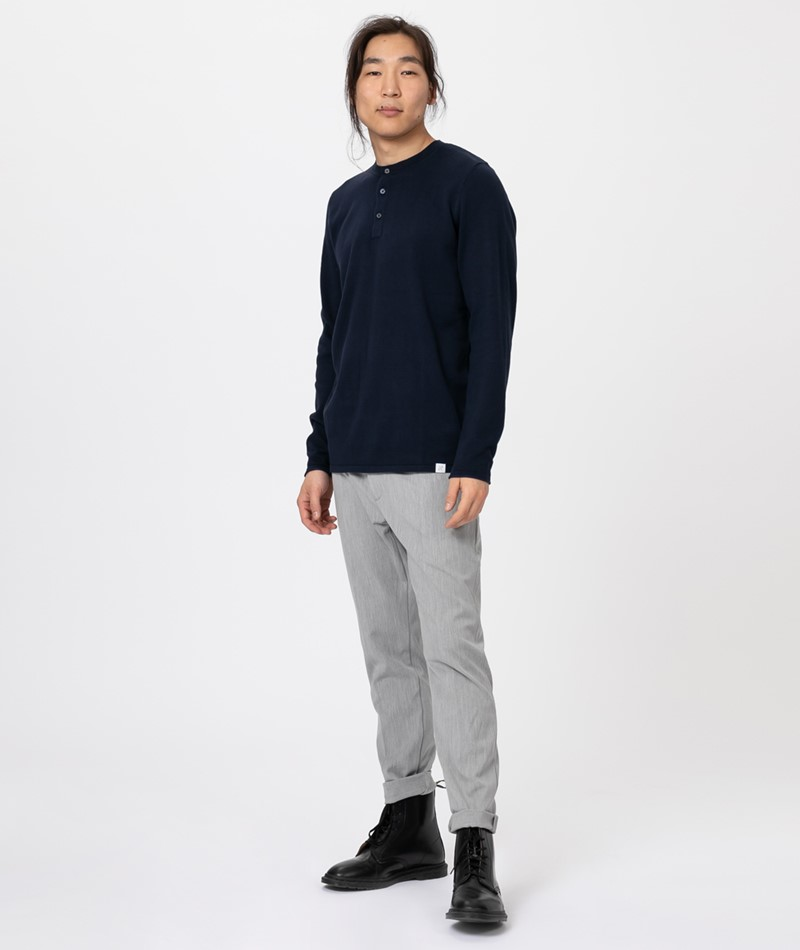 NOWADAYS Plated Henley Pullover night sk