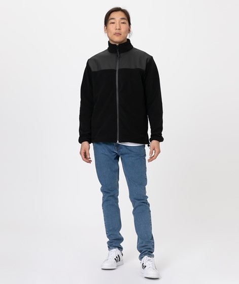 RAINS Fleece Zip Puller Jacke black