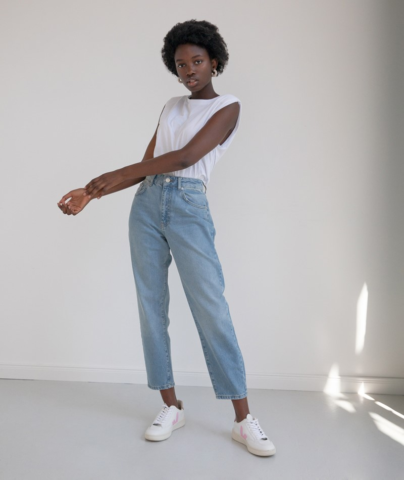 WHY7 Cristi Carrot Jeans light blue