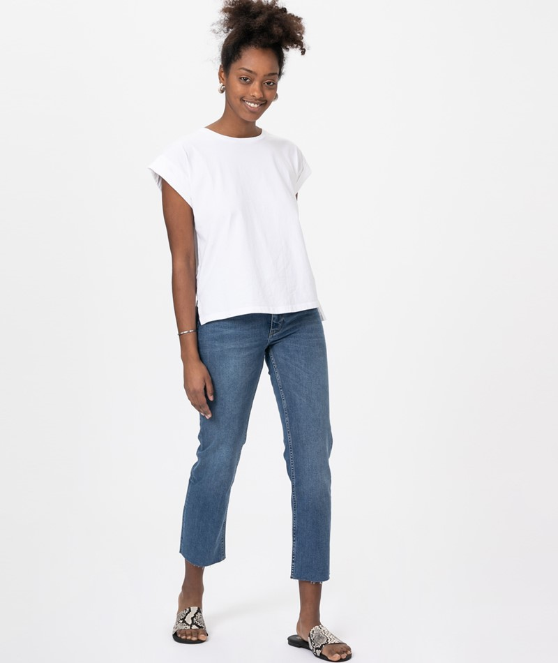 WHY7 Luna NW Straight Crop Jeans
