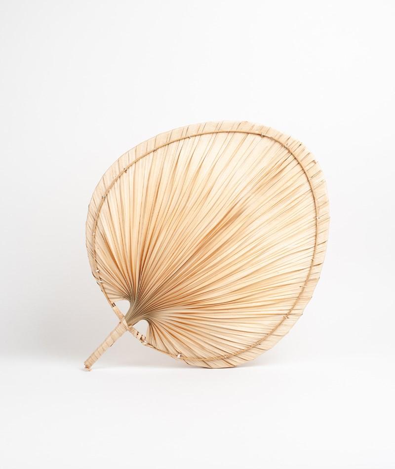 MADAM STOLTZ Palm Leaf Fächer natural