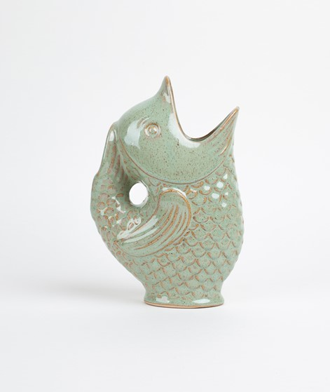 MADAM STOLTZ Stoneware Vase light green