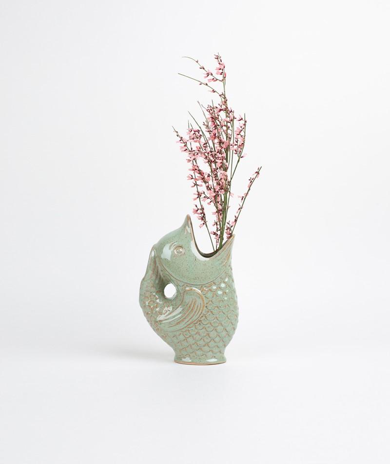 MADAM STOLTZ Stoneware Vase light green