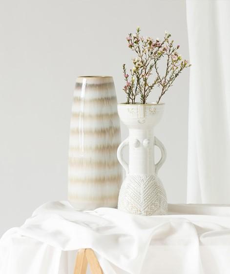 MADAM STOLTZ Stoneware Vase w/ Woman