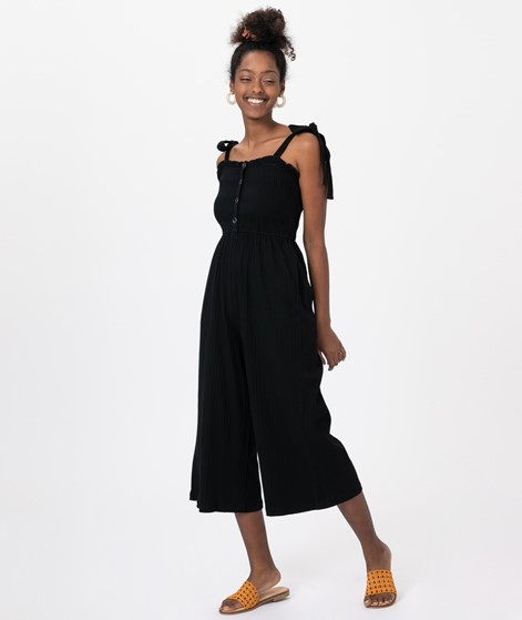MINKPINK Kyla Shirred Overall black