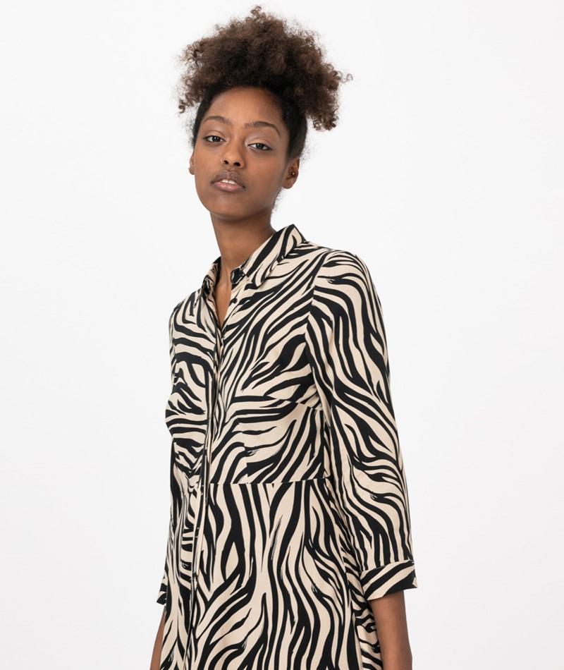YAS YASSavanna Zebra Long Kleid