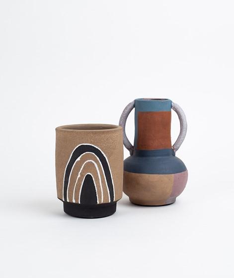 MADAM STOLTZ Terra Cotta Vase gemustert