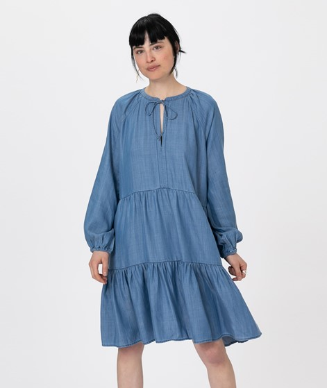 SECOND FEMALE Lilla LS Kleid blue denim