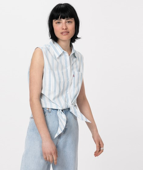 LEVIS Alina Tie Bluse amber stripe