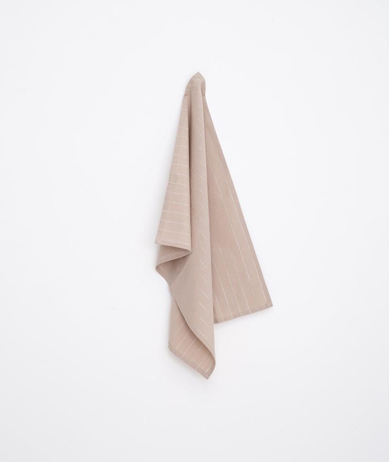 MADAM STOLTZ Striped Kitchen Towel beige