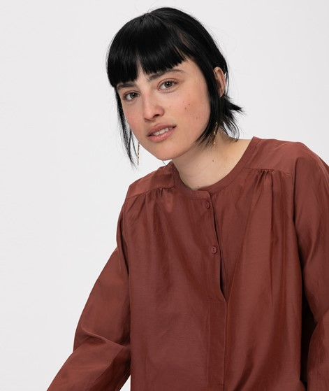SECOND FEMALE Auso LS Bluse henna