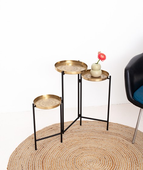 BLOOMINGVILLE Amie Sidetable gold