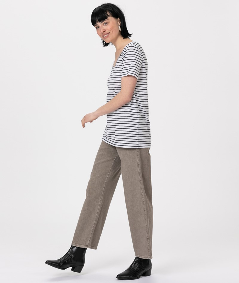 SAMSOE SAMSOE Nobel T-Shirt black stripe