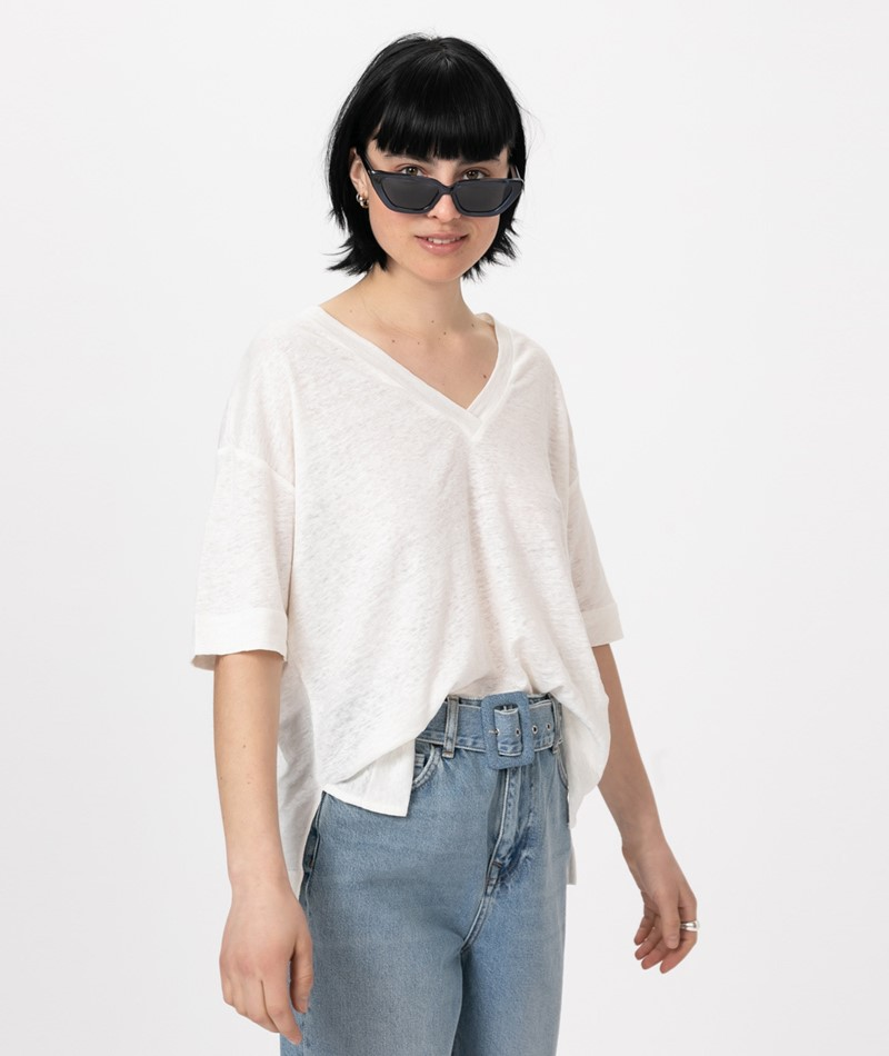 SAMSOE SAMSOE Sania SS T-Shirt cream